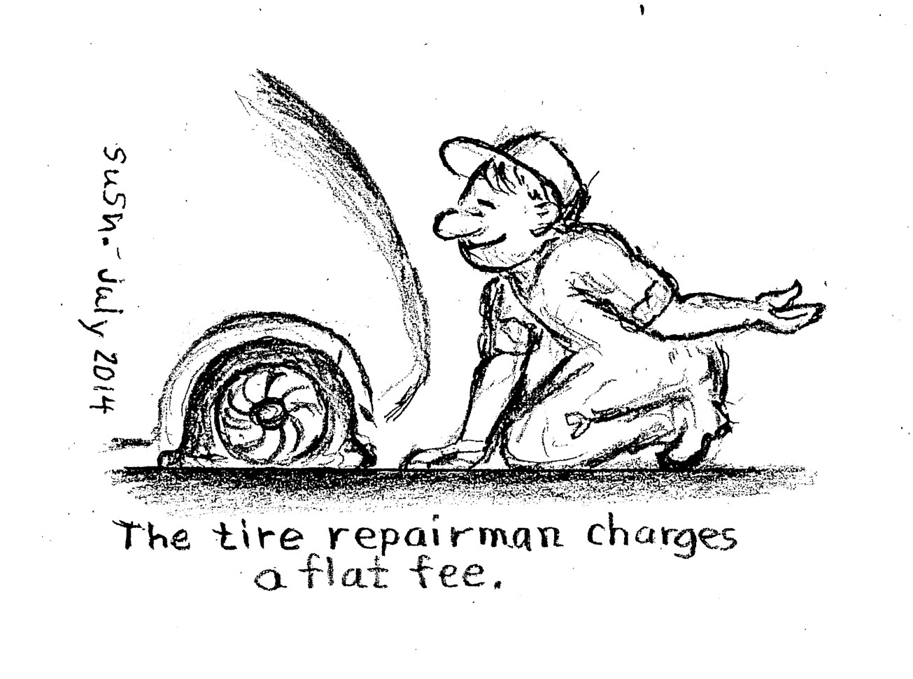 Perfect Moments, Mishaps, and the Kindness of Strangers ...  Flat Tires Cartoon Hands