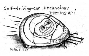 drawing of a futuristic car with a face