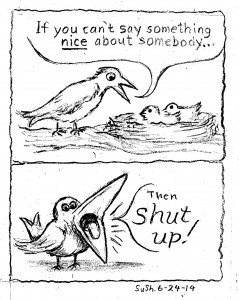 two-panel drawing of a bird