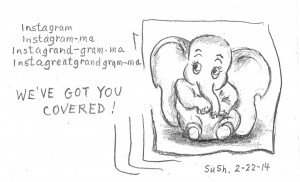 pencil drawing of a baby elephant